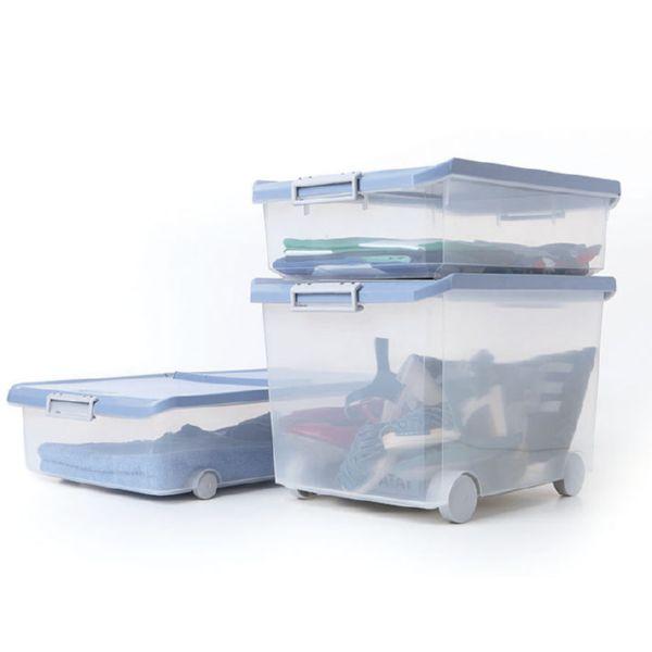 Caja plást. multiusos 35 lts. azul lavanda