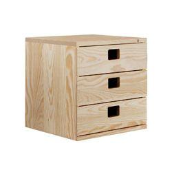 Cajonera modular 2 cajones 36x33x36 cm. Combinable.