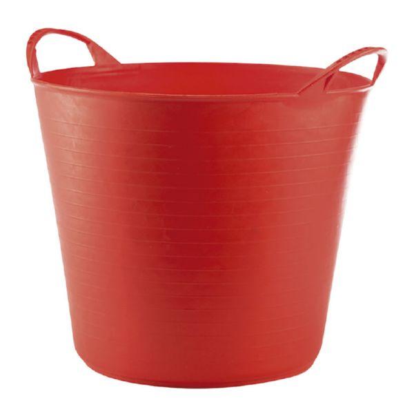 Capazo 26 litros, rojo
