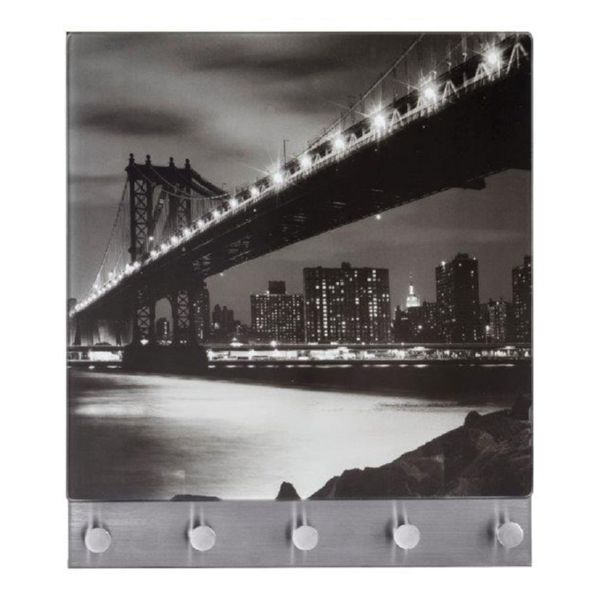 Perchero magnético decor. Manhattan Bridge. 5 ganchos + 2 im