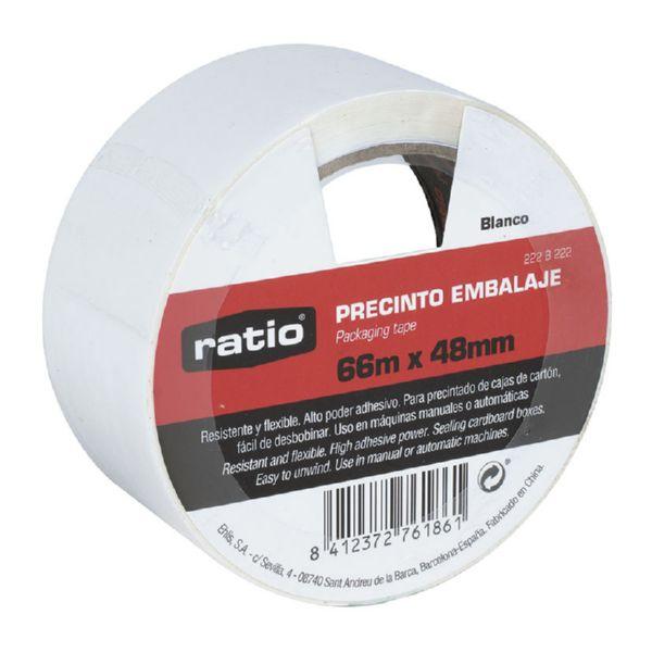 Precinto embalaje blanco 48 mm x 66 mm